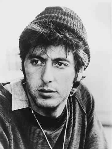 Al Pacino Facing the Camera wearing a Bonnet Close Up Portrait Photo