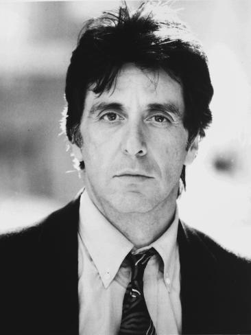 Al Pacino Looking at the Camera wearing a Coat and Tie Close Up Portrait Photo