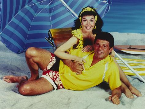 Annette Funicello Beach Theme Couple Portrait Photo