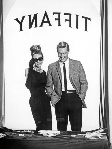 Audrey Hepburn and George Peppard in Tiffany's Window Foto