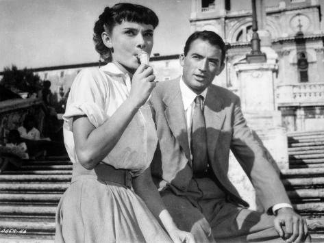 Audrey Hepburn and Gregory Peck in Roman Holiday Photo