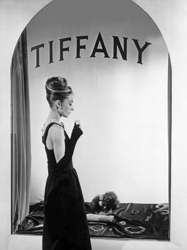 Audrey Hepburn Publicity Still in Front of Tiffany's Window Photo