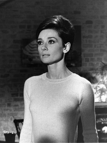 Audrey Hepburn Wait Until Dark White Sweater Photo