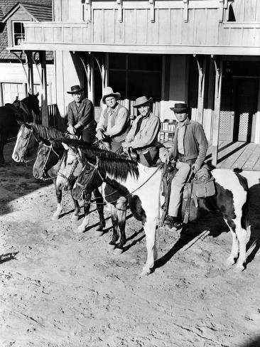 Bonanza Posed on Horse Photo