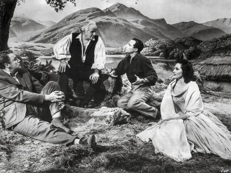 Brigadoon Excerpt Men and Woman sitting Under the Tree Photo