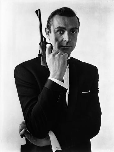 Doctor No in Bond Portrait with Gun Photo