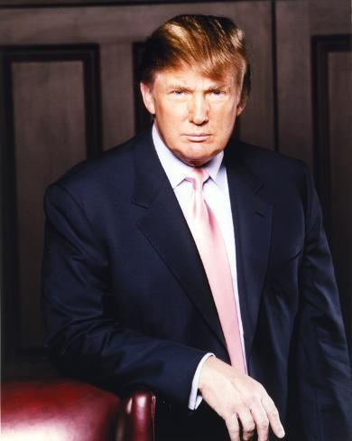 Donald Trump Posed in Blue Coat Photo