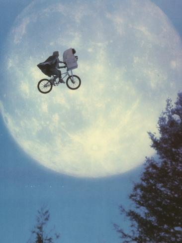 E.T. Flying Bicycle Portrait Photo