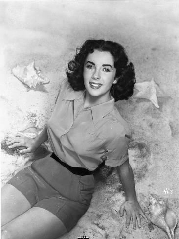 Elizabeth Taylor Looking Up in Blouse Photo