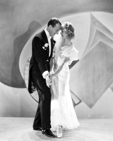 Fred Astaire and Ginger Rogers Dancing on Stage Photo