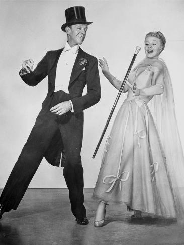 Fred Astaire and Ginger Rogers Dancing Scene from Top Hat Film Photo