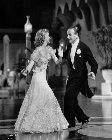 Fred Astaire and Ginger Rogers smiling, Dancing and Performing Photo