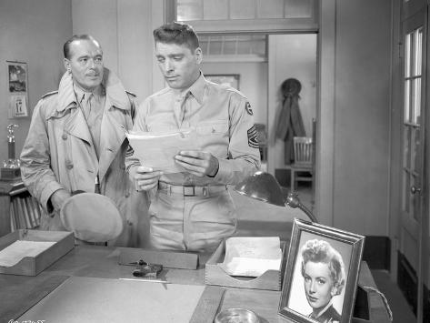 From Here To Eternity Policemen Holding Paper in Uniform Photo