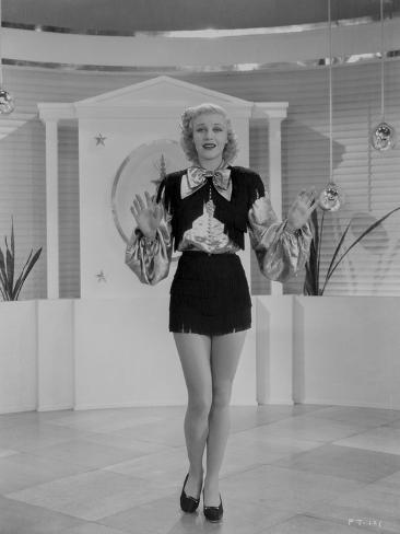 Ginger Rogers Black and White Dress Photo