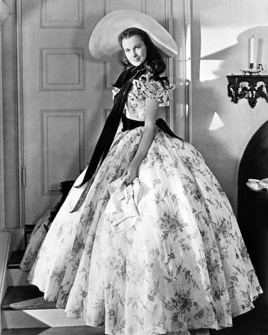Gone With The Wind Scarlett O'Hara Side View Posed Photo