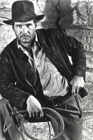 Harrison Ford in a Cowboy's Attire with Whip Photo