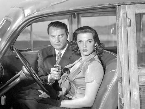 Las Vegas Story Holding Pistol Couple Portrait Foto