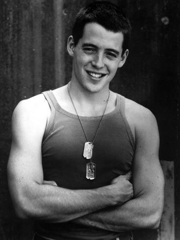 Matthew Broderick in Tank top With Necklace Photo