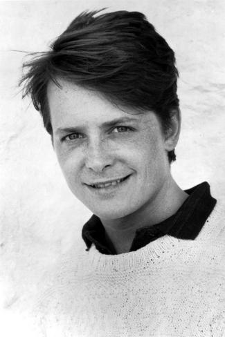 Michael J Fox in Sweater With White Background Photo