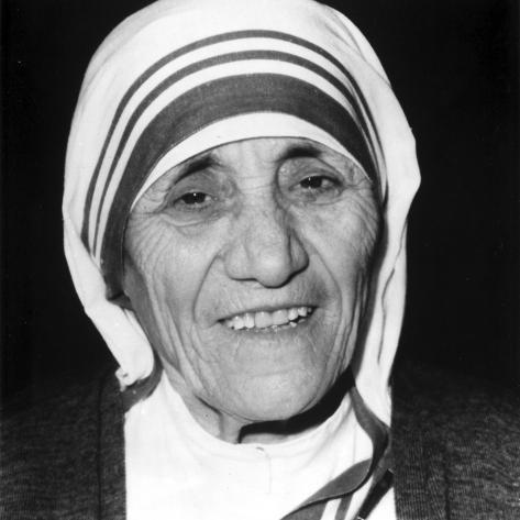 Mother Teresa Portrait in Classic Photo