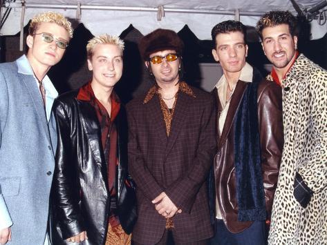 N'sync Group Posed in Coat Photo