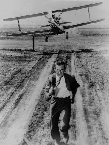 North By Northwest Running Scene in Black and White Photo