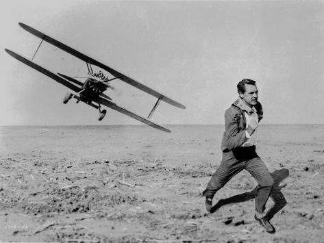 North By Northwest Running Scene in Classic Photo