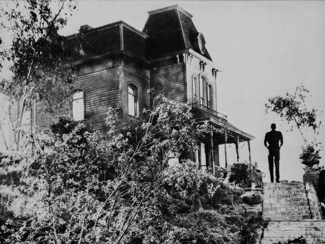Psycho standing in Black and White Photo