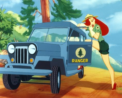 Roger Rabbit Jessica Rabbit in Forest Ranger Outfit Photo