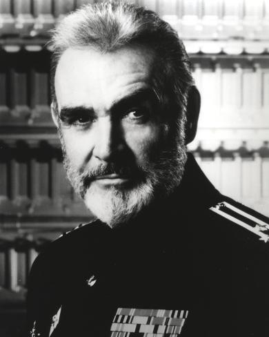 Sean Connery in General Uniform Black and White Photo