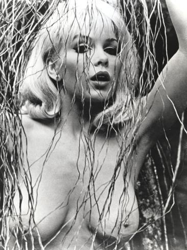 Stella Stevens Nude Portrait in Black and White Photo
