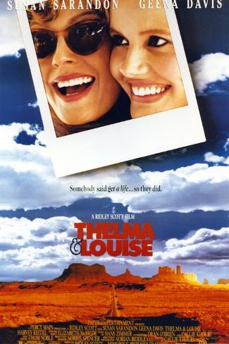 Thelma & Louise Portrait in Poster Photo