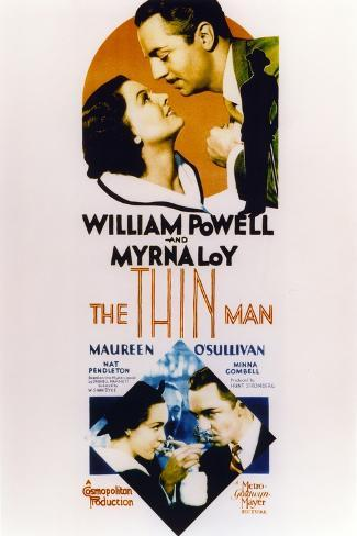 Thin Man Poster Two with William Powell and Myrna Loy Fotografía