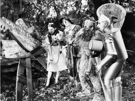 Wizard Of Oz Dorothy People Reading in Black and White Fotografia