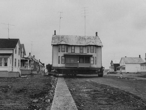 Moving Homes from Iroquois, Canada for the St. Lawrence Seaway Project Photographic Print