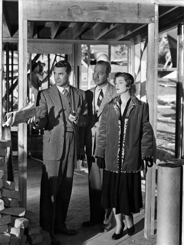 Mr. Blandings Builds His Dream House, Cary Grant, Melvyn Douglas, Myrna Loy, 1948 Photo