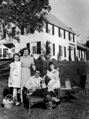 Mr. Blandings Builds His Dream House, Sharyn Moffett, Myrna Loy, Cary Grant, Connie Marshall, 1948 Photo