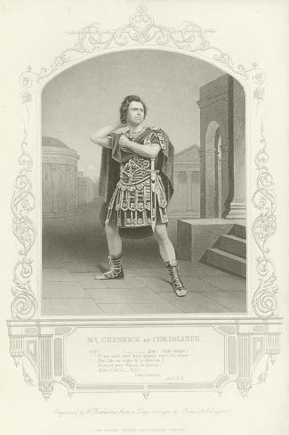 Mr Creswick as Coriolanus, Coriolanus, Act V, Scene III Lámina giclée