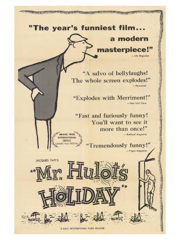 Mr. Hulot's Holiday, 1953 Art Print