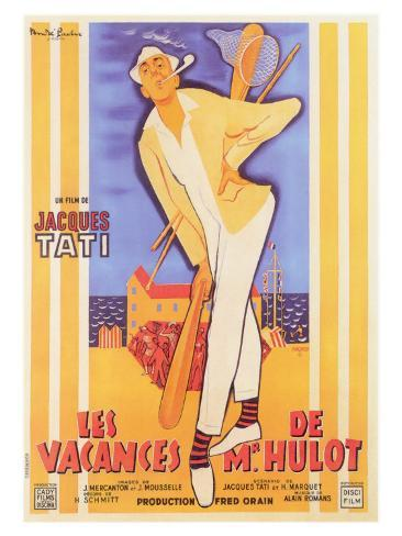 Mr. Hulot's Holiday, French Movie Poster, 1953 Premium Giclee Print