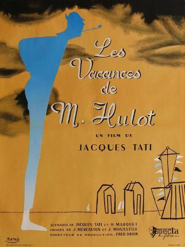 Mr. Hulot's Holiday, French Movie Poster, 1953 Art Print