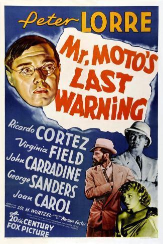 Mr. Moto's Last Warning Lámina