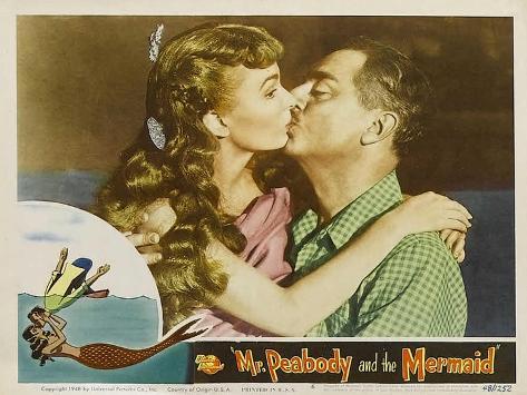 Mr. Peabody and the Mermaid, 1948 Art Print