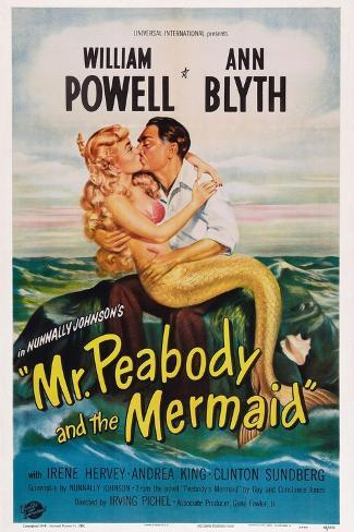 Mr. Peabody and the Mermaid, from Left: Ann Blyth, William Powell, 1948 Art Print