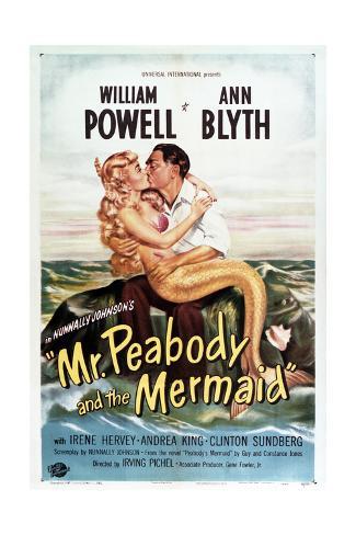Mr. Peabody and the Mermaid Konstprint