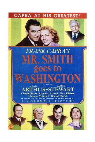 Mr. Smith Goes to Washington - Movie Poster Reproduction Art Print