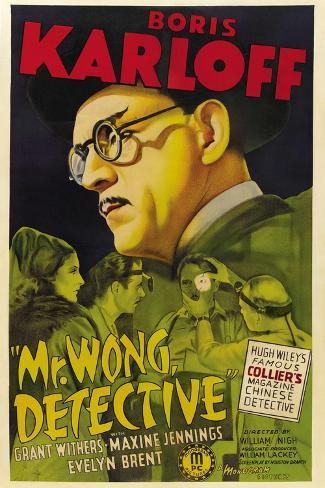 MR. WONG, DETECTIVE, Evelyn Brent, Boris Karloff, 1938 Impressão artística