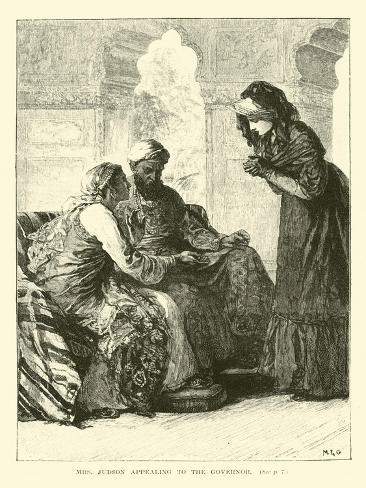 Mrs Judson Appealing to the Governor Lámina giclée