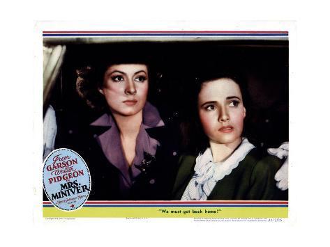 Mrs. Miniver, from Left, Greer Garson, Teresa Wright, 1942 ジクレープリント