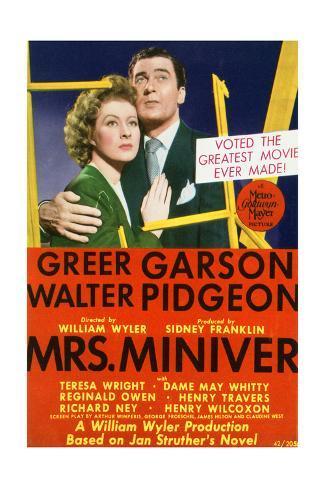Mrs. Miniver - Movie Poster Reproduction Art Print
